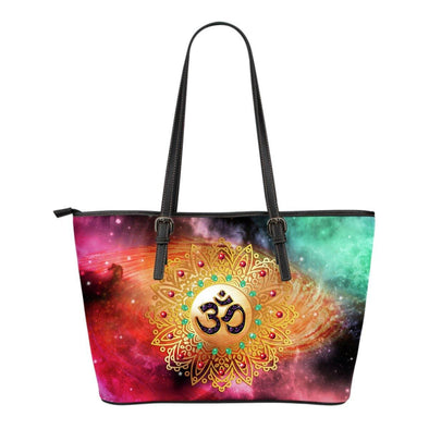 High Power Ohm Small Leather Tote Bag