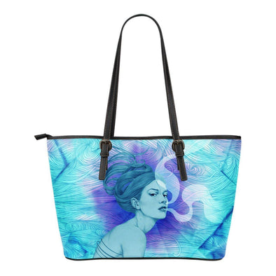 Exhale Small Leather Tote Bag