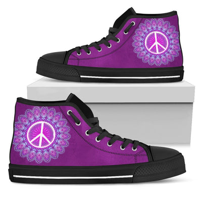 Womens Purple Peace Mandala High Top
