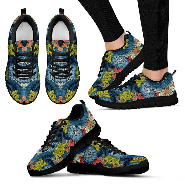 Abstract Tribal Pattern Boho Sneakers