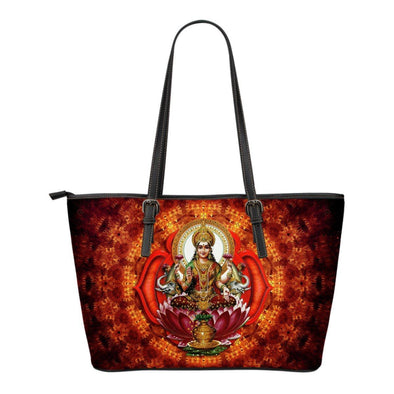 Shri Yantra Small Leather Tote