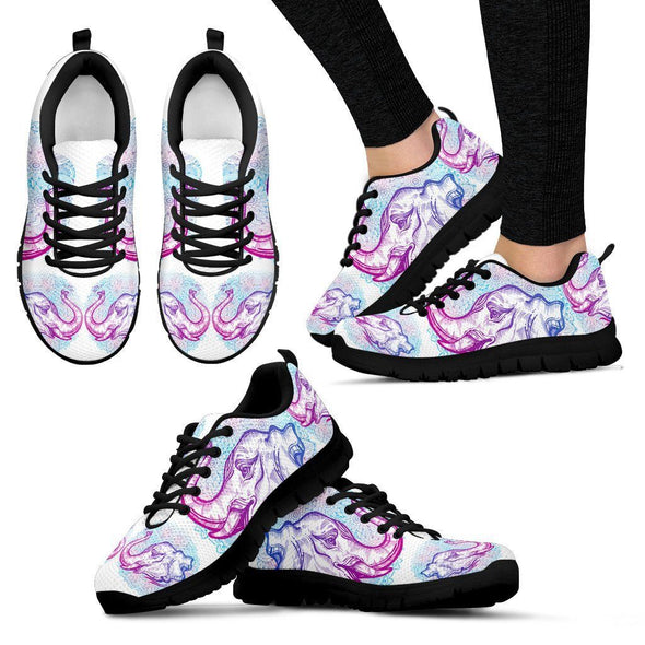 Colorful Mandala Elephant Sneakers