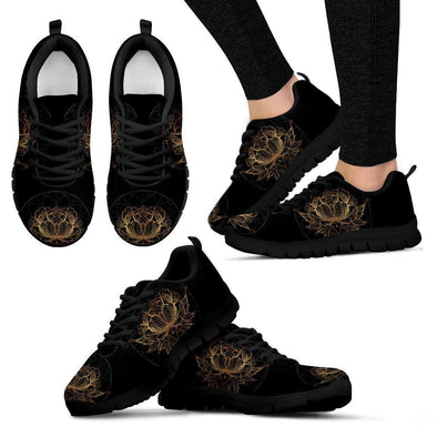 Gold Lotus Mandala Sneakers