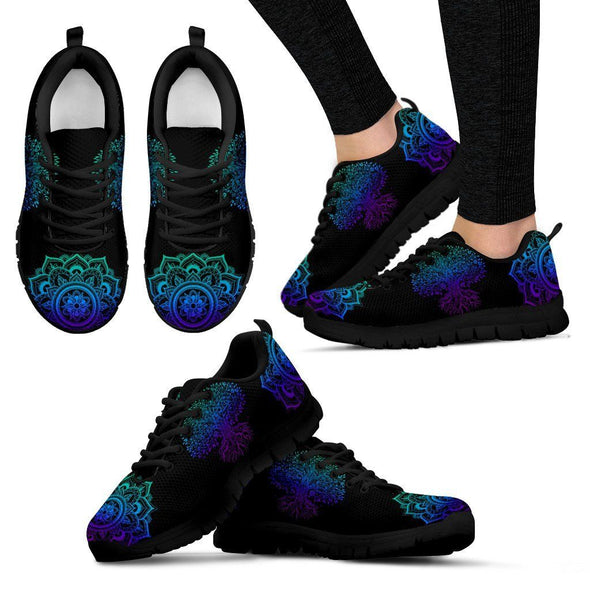 Blue Purple Tree of Life 1 Sneakers