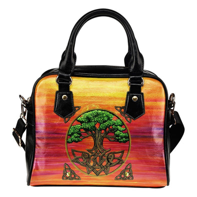 The Tree of Life Shoulder Handbag