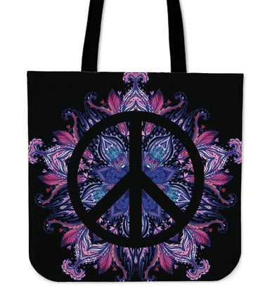 Peace Mandala Tote Bag
