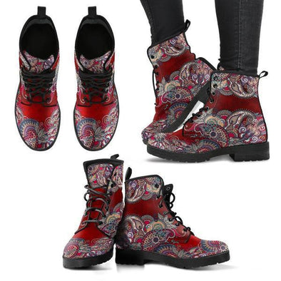 Clearance Red Paisley Mandala Boots