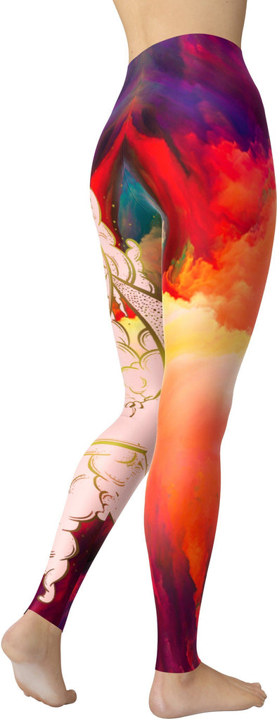 Colorful Sun and Moon Leggings.