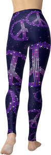 HandCrafted Peace Pixel Leggings