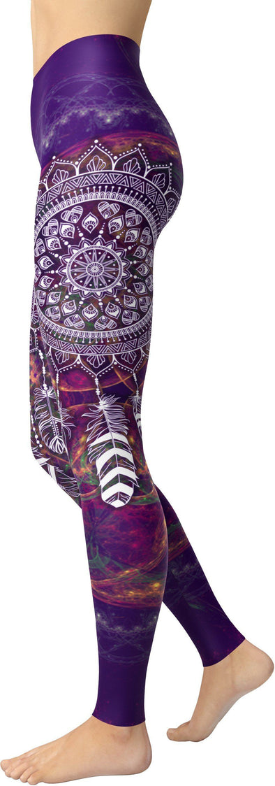 Purple DreamCatcher Leggings