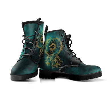 HandCrafted Green Sun and Moon Dream catcher Boots.