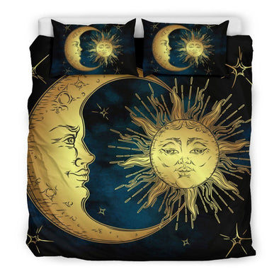 Romantic Sun and Moon Bedding Set