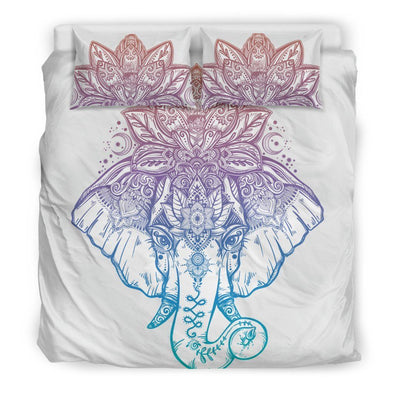 Mandala Elephant Colorful 1 Bedding Set