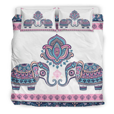 Mandala Elephant Colorful 2 Bedding Set