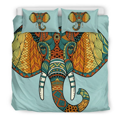 Mandala Elephant Head Bedding Set
