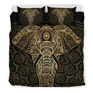 Mandala Elephant Gold Head Bedding Set
