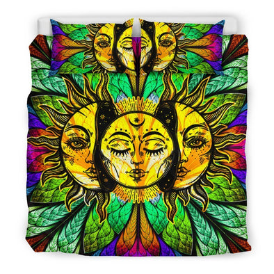Glowing Sun and Moon Bedding Set