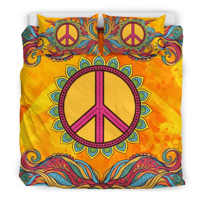 Hippie Peace Bedding Set
