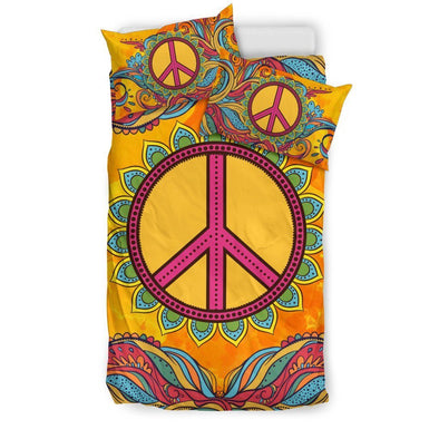 Hippie Peace Bedding Set .