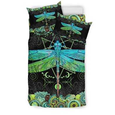 Mandala Dragonfly Bedding Set .