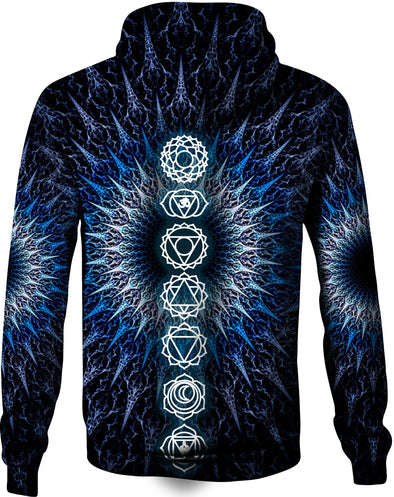 HandCrafted Winter Chakra Hoodie