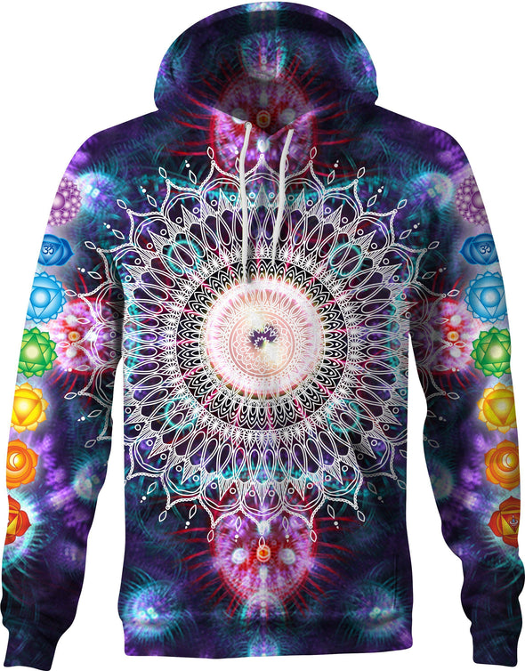 HandCrafted Psychedelic Chakra Hoodie