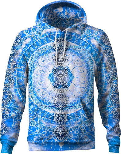HandCrafted Blue Chakra Hoodie