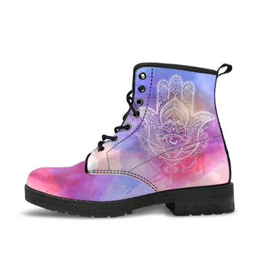 HandCrafted Sky Hamsa Boots