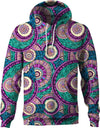 HandCrafted Fractal Mandala Purple Rings Hoodie