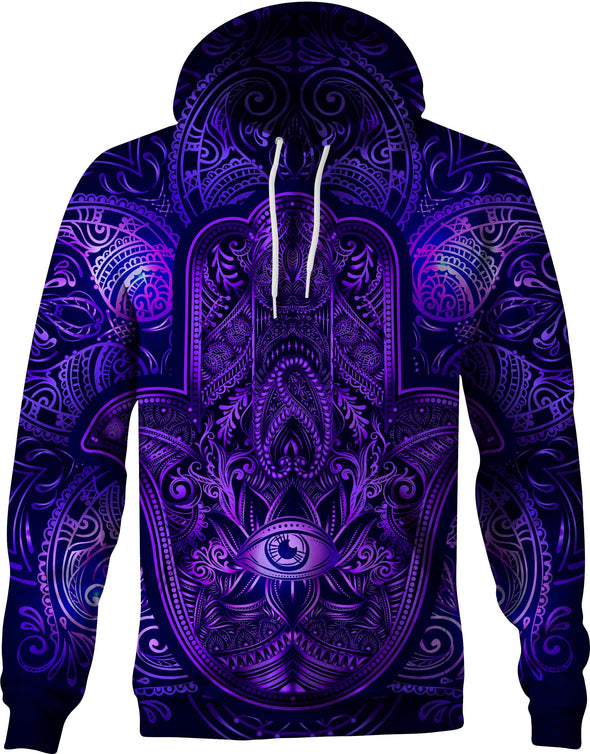 HandCrafted Hands of Hamsa Galaxy Hoodie