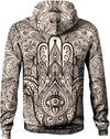 HandCrafted Hands of Hamsa Ink Hoodie