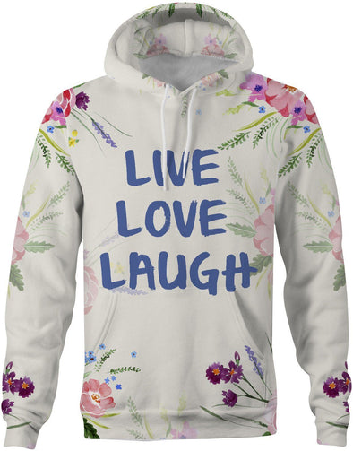 HandCrafted Live Love Laugh Hoodie