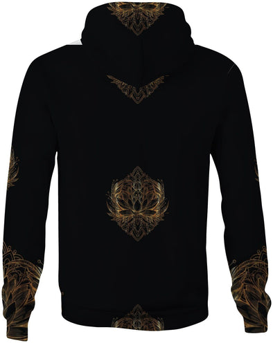 HandCrafted Gold Lotus Hoodie