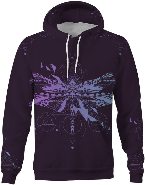 HandCrafted Purple Dragonfly Hoodie