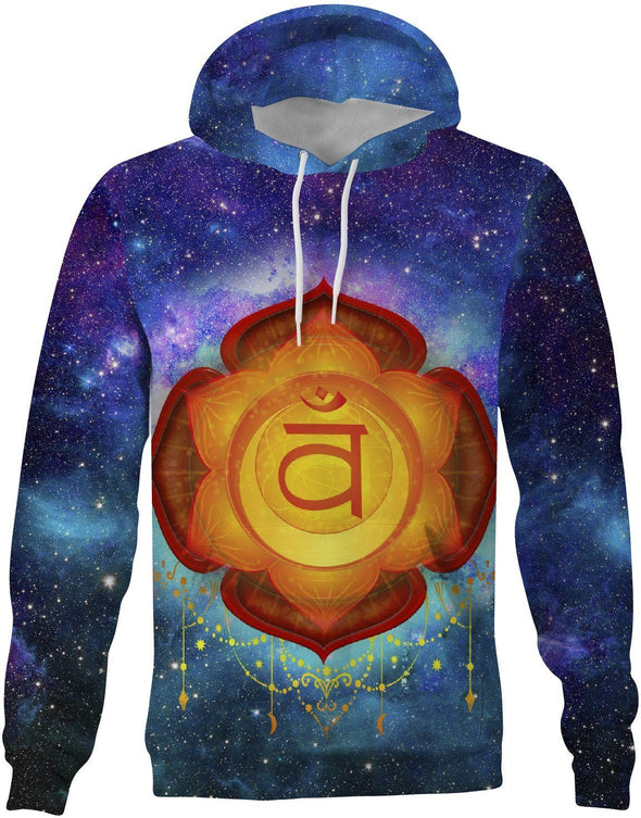HandCrafted Sacral Chakra Hoodie