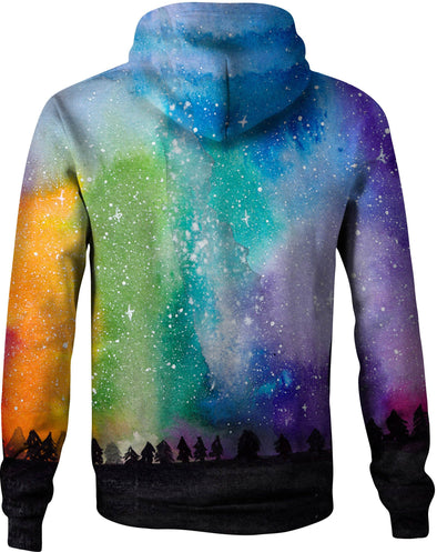 HandCrafted Galaxy Sun and Moon Hoodie