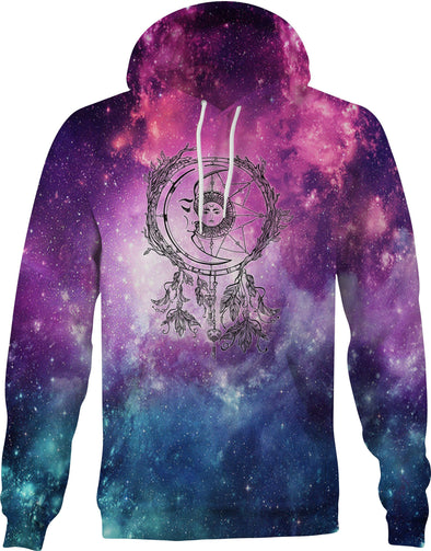 HandCrafted Galaxy Sun and Moon Dreamcatcher Hoodie