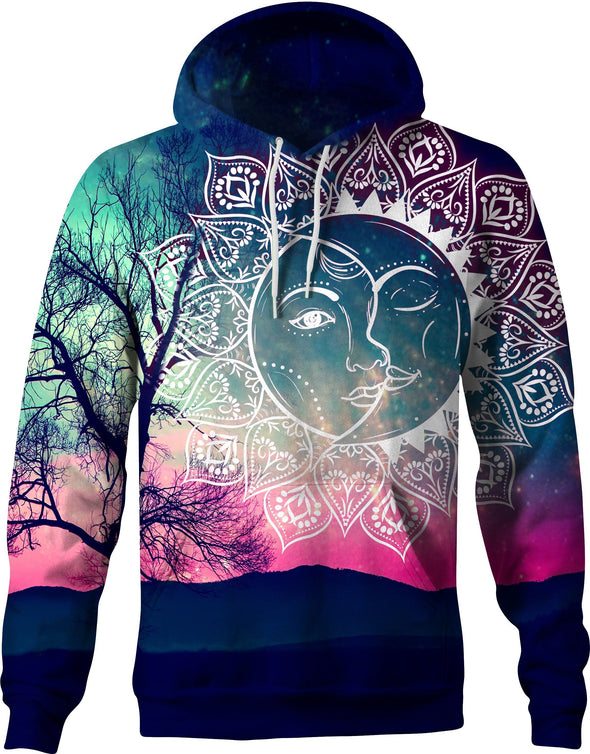 HandCrafted Dawn Sun and Moon Hoodie