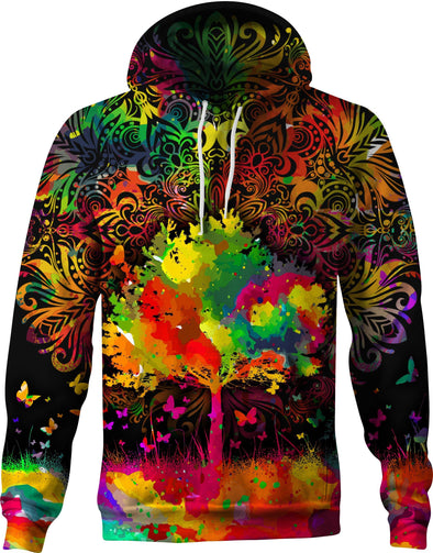 HandCrafted Original Colorful Tree of Life Hoodie