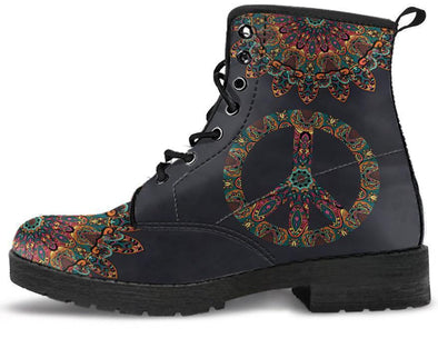 Clearance Colorful Peace and Mandala Boots