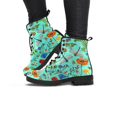 Handcrafted Dragonfly Flowers 5 Boots