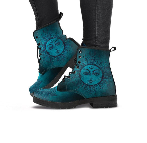 Clearance Teal Sun and Moon Boots