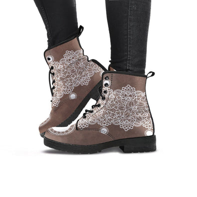 Handcrafted Lace Designed Boots.