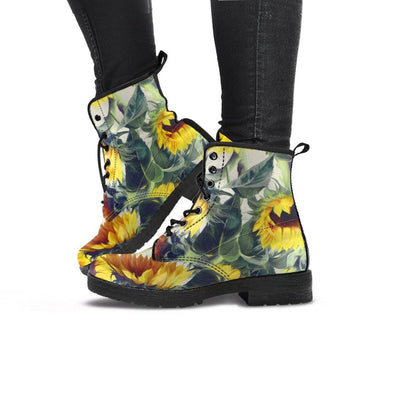 Handcrafted Sunflower Boots..