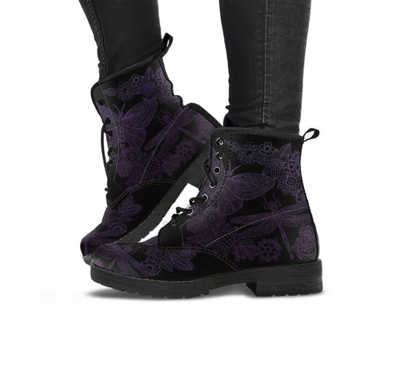 Handcrafted Butterfly Lotus 3 Boots