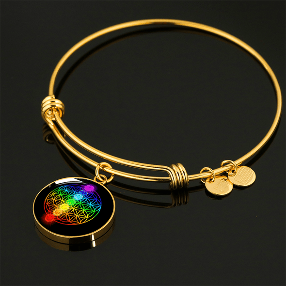Gold Chakra Life Luxury Bangle and Bracelet