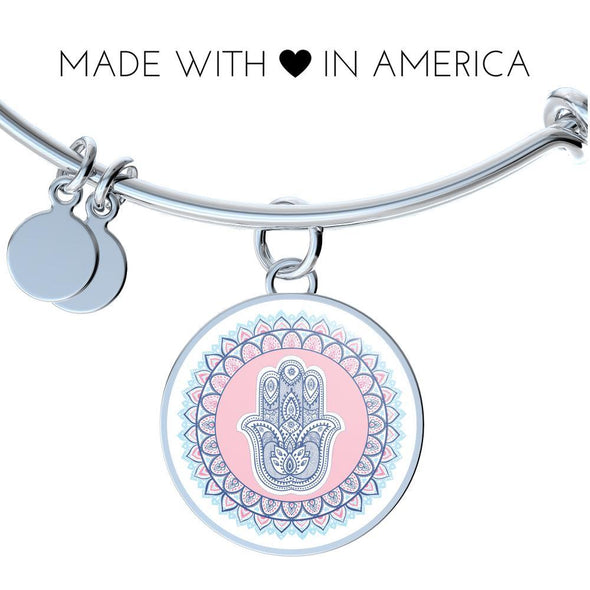 Hands of Hamsa Peace Mandala Luxury Bangle