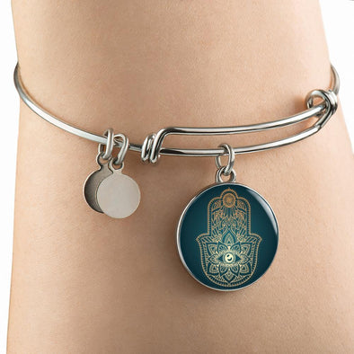 Hands of Hamsa Eye Luxury Bangle