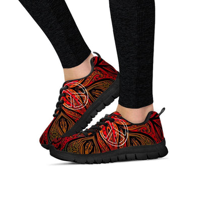 Fractal Henna and Peace Sneakers