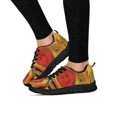 Womens Frida Kahlo Cherry Sneakers.